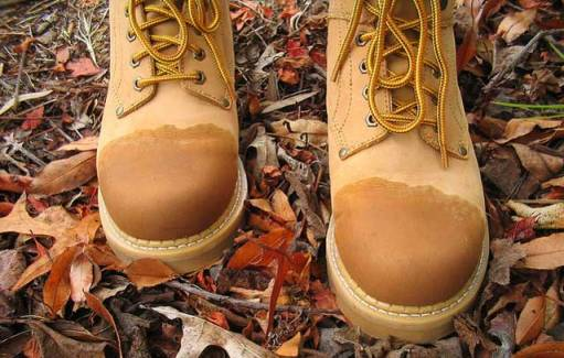 Уход за обувью - промокшие ботинки